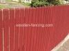 Zaunlatten abgeschrägt Zaun angestrichen
